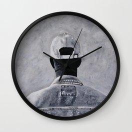 Denim Jacket Wall Clock