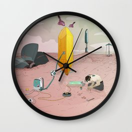 Land of Crystals Wall Clock