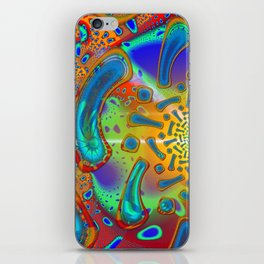 SemiSonic Psychedelic Dichroic Fused Glass Fractal iPhone Skin