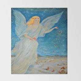 Bless me | Guardian Angels are Here | Angel of Abundance | Love Throw Blanket