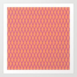 net pink and orange Art Print