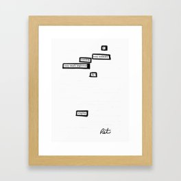Very Ordinary Framed Art Print