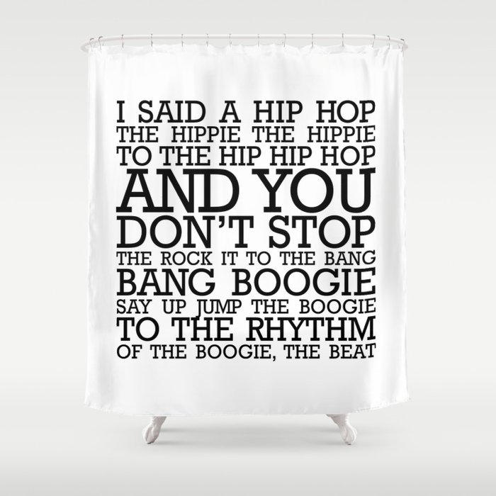 HIP HOP BOGGIE WHITE Shower Curtain