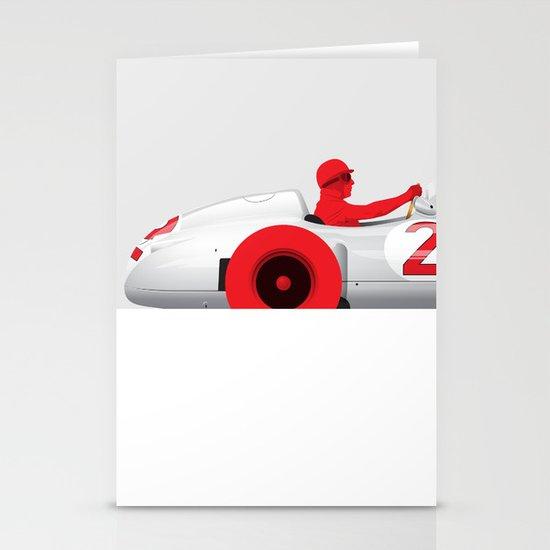 Juan Manuel Fangio, Mercedes W196, 1955 Stationery Cards