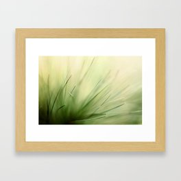 Abstract Pine Needles Framed Art Print