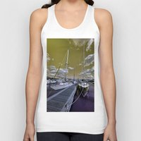 marina Tank Tops featuring Cowes Marina  by Rob Hawkins Photography