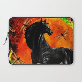 HORSE MOON AND DRAGONFLY VISIONS Laptop Sleeve