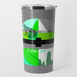 Waiting for the show to begin (Test Pattern 3) Travel Mug