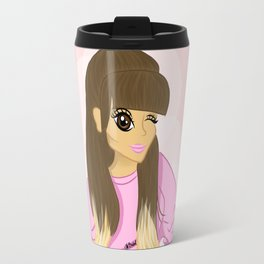 pink sweater arianagrande cartoon Travel Mug
