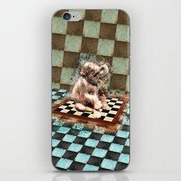 Baby Elephant on the chessboard digital art iPhone Skin