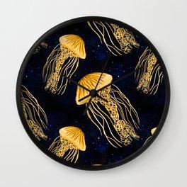 Galaxy Jellyfish Pattern Wall Clock