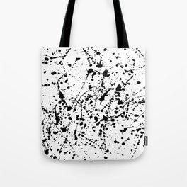 Splat Black on White Tote Bag