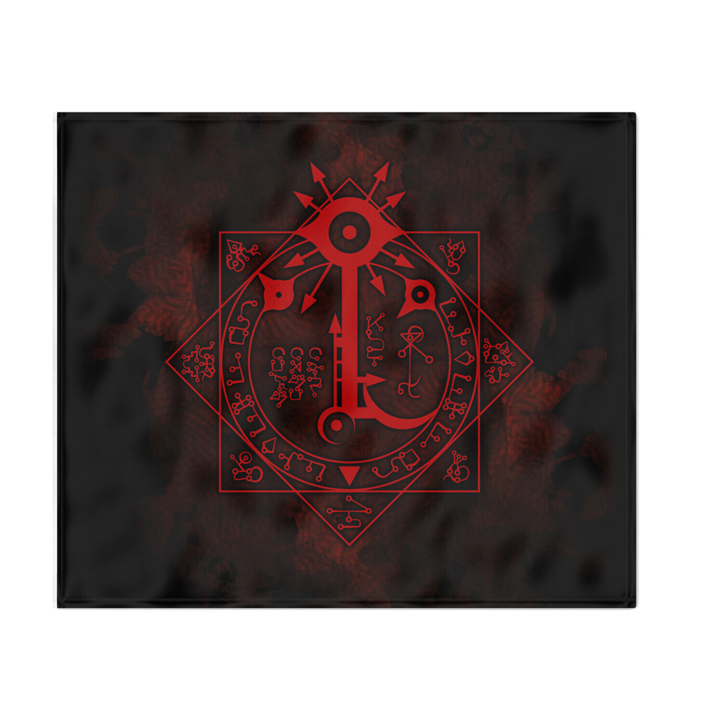 IS_Symbol_on_Red_Throw_Blanket_by_montecookgames