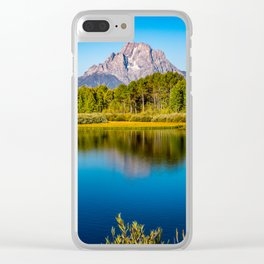 Oxbow Bend - Mt Moran in the Grand Tetons Clear iPhone Case