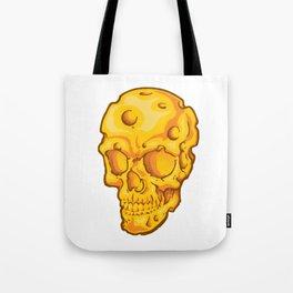 Cheesehead Skull Tote Bag