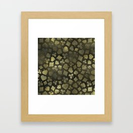 Vintage Gold and Marble Suits Pattern Framed Art Print