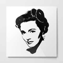 Patricia Neal Is Class Metal Print