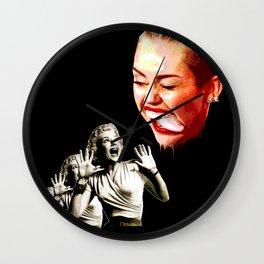 Attack of the creepy tongue Wall Clock