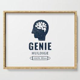Genius, admire, 100 % brain Serving Tray