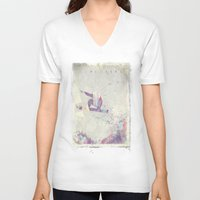 snowboard V-neck T-shirts featuring Explorers IV by HappyMelvin