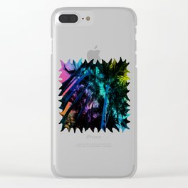 The Palm Trees Under the Seaside Rainbow Clear iPhone Case