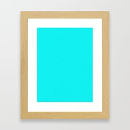 Aqua Cyan Pixel Dust Framed Art Print