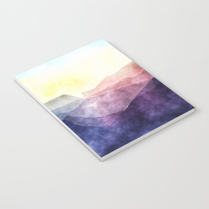 In the sea- abstract watercolor - Original triangle pattern Notebook