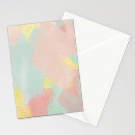 Abstract Pastel Acrylic Stationery Cards