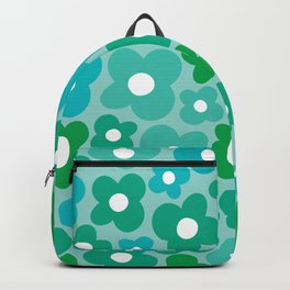 Turquoise Flower Power Backpack