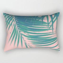 Palm Leaves Blush Summer Vibes #2 #tropical #decor #art #society6 Rectangular Pillow