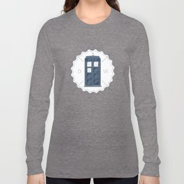 Badge inspired by Doctor Who's TARDIS  Long Sleeve T-shirt