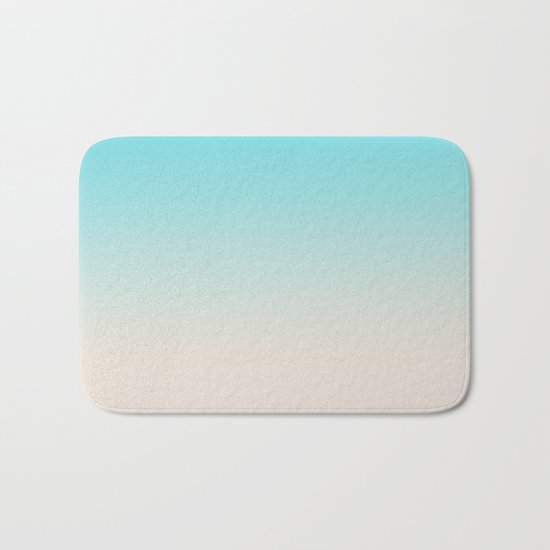 Ombre  digital illustration pastel colors 2 Bath Mat