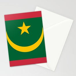 Flag of Mauritania Stationery Cards