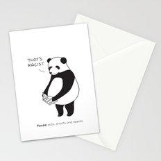 Pandas not Guns Stationery Cards