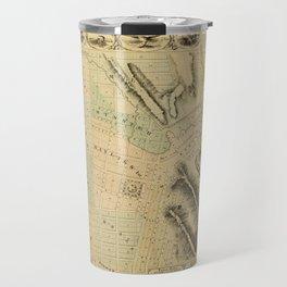 Map Of Council Bluffs 1858 Travel Mug
