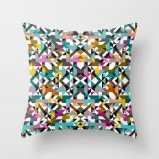 Aztec Geometric Reflection II Throw Pillow