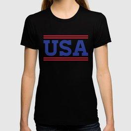 Retro USA Red White Blue Design T-shirt