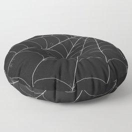 Spiderweb on Black Floor Pillow