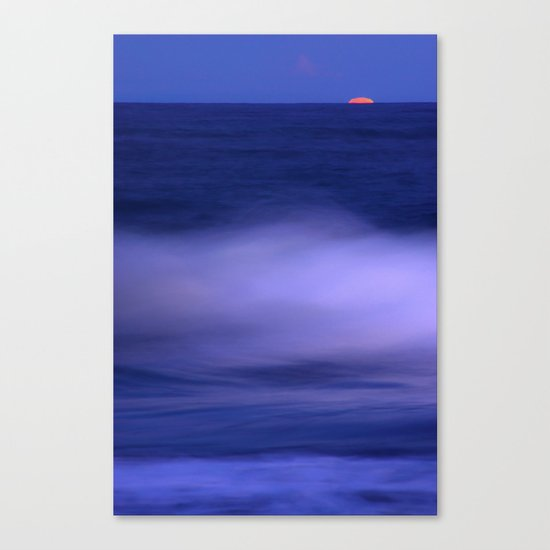 The red moon and the sea Canvas Print