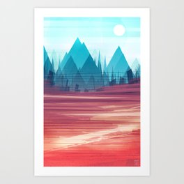 New Ground : Valley of the Wired Art Print