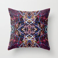 baphomet Throw Pillows featuring Baphomet 6 by Kevin Kolstad