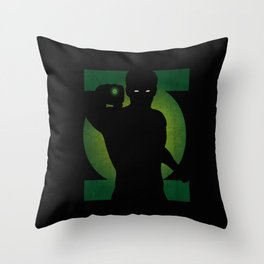 SuperHeroes Shadows : Green Lantern Throw Pillow