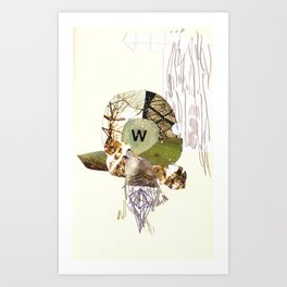 W is for Wolf Art Print