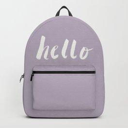 Hello x Lavender Script Backpack