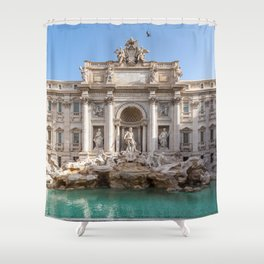 Trevi Fountain in the early morning - Rome, Italy Shower Curtain
