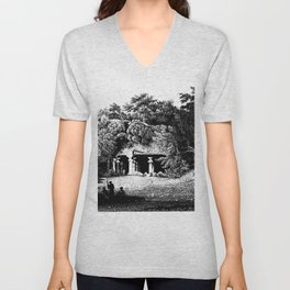 ENTRANCE to ELEPHANTA CAVES Unisex V-Neck