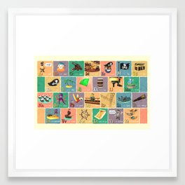 Pirate Alphabet Framed Art Print