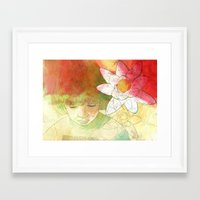 child Framed Art Prints featuring child by Sabine Israel