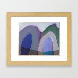Mountain reflection winter changes Framed Art Print