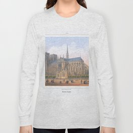 Paris Wall Art french antique Paris Bedroom Decor Paris art print Paris Decor office decoration vint Long Sleeve T-shirt